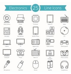 Electronics line icons vector
