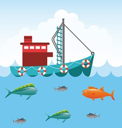 fishing tournament vector image vector image