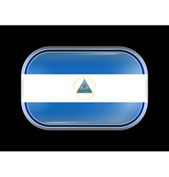 Flag of nicaragua rectangular shape vector