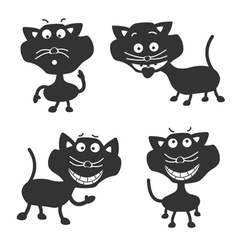 Funny Black Cats vector image