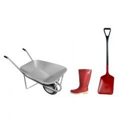 gardening equipment vector image vector image