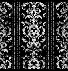 Grunge baroque striped seamless pattern tapestry vector