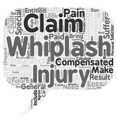 How to calculate your whiplash claim text vector