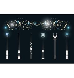 Magic wands vector