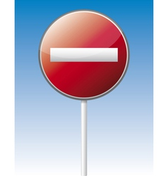 One way traffic board vector image vector image