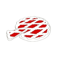 Pie sketch vector image vector image