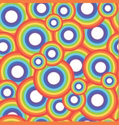 Rainbow circle seamless pattern vector