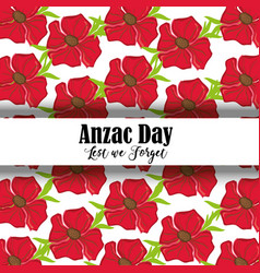 Remembrance war with anzac day memorial vector
