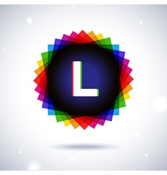 Spectrum logo icon Letter L vector image vector image