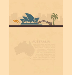 template leaflets with a map and symbols of the vector image vector image
