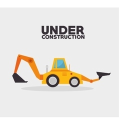under construction truck machinery vector image