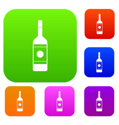 vodka set color collection vector image vector image