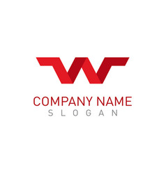 w red logo vector image vector image