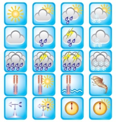 weather theme vector image