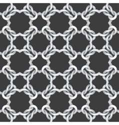 White net on black background seamless pattern vector image