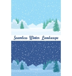 Winter Forest Seamless Landscapes vector image vector image