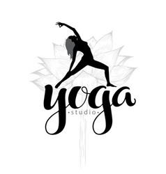 yoga studio logo vector image