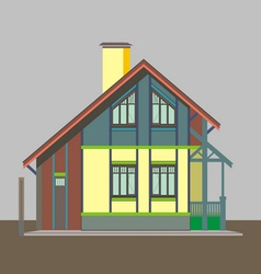 04 Colored house V vector image