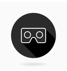 Fine flat icon with vr logo vector