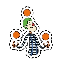 Isolated circus clown design vector image