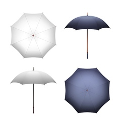 Blank white and black umbrella for merchandise vector