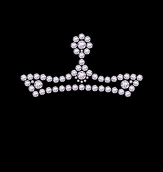 Diamond crown vector