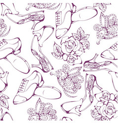 Dance line pattern ballroom dancing vector