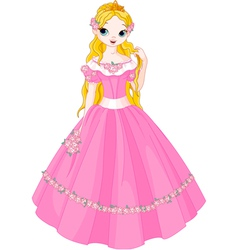 Fairytale princess vector