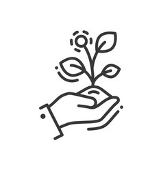 Life in seed - modern single line icon vector