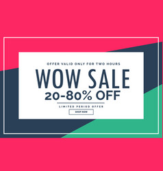 Promotional sale banner design with clean style vector