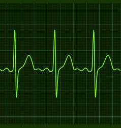 Cardiogram on digital device monitor vector