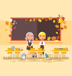 Back to school cartoon two vector