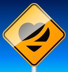 Belt up road sign vector image