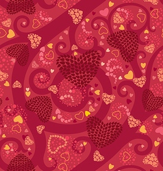Bright valentine seamless pattern vector