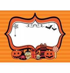 Halloween party frame vector
