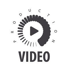 Logo loading to view the video vector