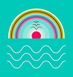 Flat Design Ocean vector image