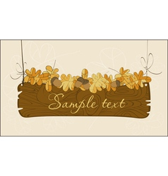Wooden autumn banner vector