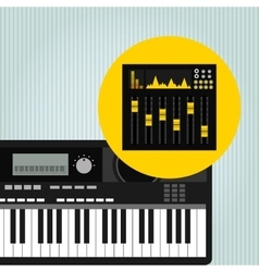 Musical production design vector
