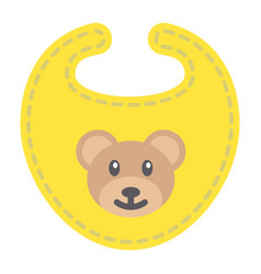 Baby bib flat icon kid and clothes vector