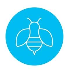 Bee line icon vector image vector image