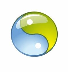 blue creative yin-yang symbol logo vector image vector image