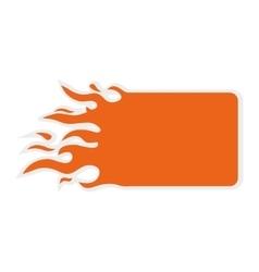 Blue flame icon label design graphic vector