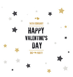 creative flyer with text happy valentines day vector image