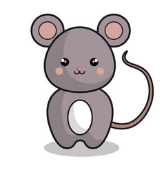 cute mouse kawaii style vector image