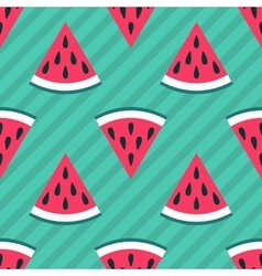 Cute seamless watermelon pattern vector image vector image