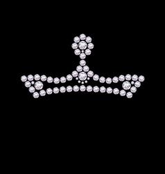 Diamond crown vector
