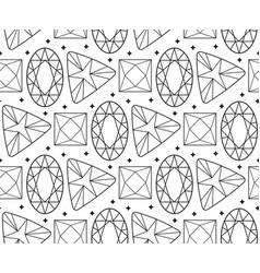 Diamond seamless pattern line sketch doodle vector