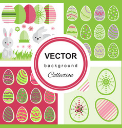 Easter pattern collection vector