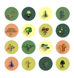 Flat eco tree infographic icon design templates vector image vector image